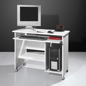 compact white computer desk 0482 84 300x300 - White Small Computer Desk with Hutch for Small Spaces
