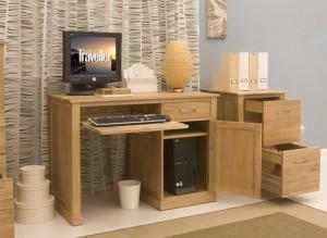 Buy a Square Small Oak Computer Desk for More Space