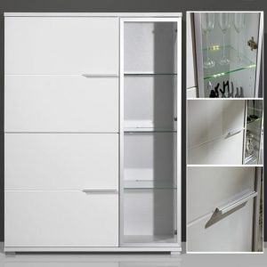 gloss white display cabinet 1520 84 300x300 - Types of living room cabinets