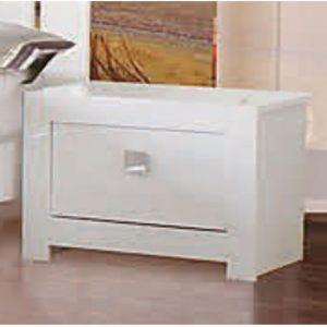 omega white bedside 300x300 - Types of bedroom cabinets