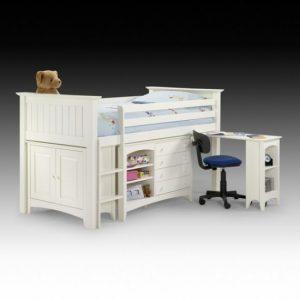white bunk bed sleep station desk 300x300 - Cheap children's bedroom furniture