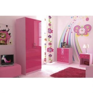 Ottawa 2 Tones 3 Piece Pink High Gloss Bedroom Set 300x300 - Bedroom furniture for cheap prices - Everything you could wish for