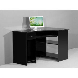 Venus blk computer black gloss 300x300 - Contemporary computer desk for your living room