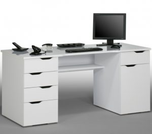 95395639 white computer desk 300x266 - 5 Exclusive Storage Accessories for Desks for Home Office