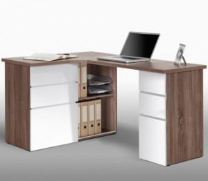 Incorporate Oak Corner Computer Desk for Lasting Durability