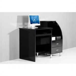 Increase the Storage of Your Office with Black Computer Desk with Hutch