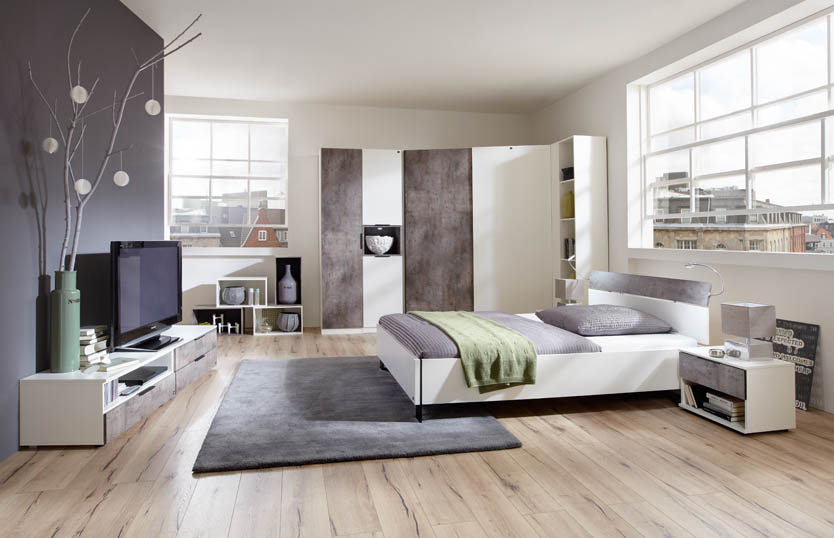 Use the internet for finding white bedroom furniture for quick assembly