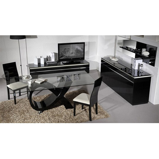 table chair elisa black - Major Benefits of Glass Top Dining Tables