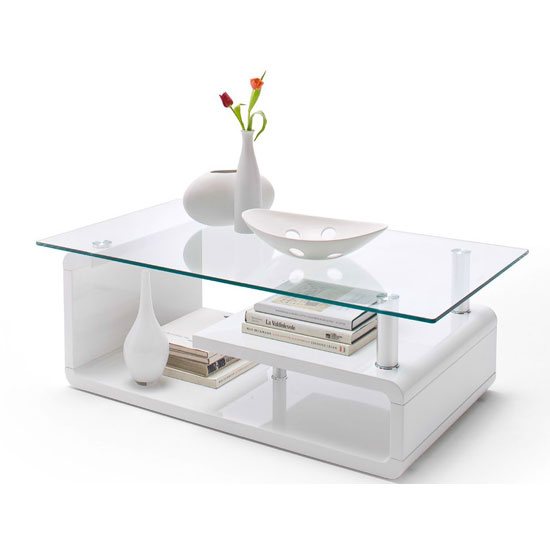 58112W 1 - 4 Reasons To Get A White Gloss Glass Coffee Table For Your Living Room
