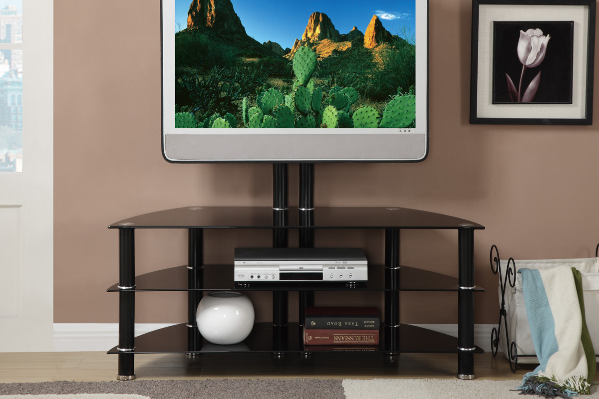 How To Stylishly Contrast Black Glass TV Cabinet Stand 6 Suggestions