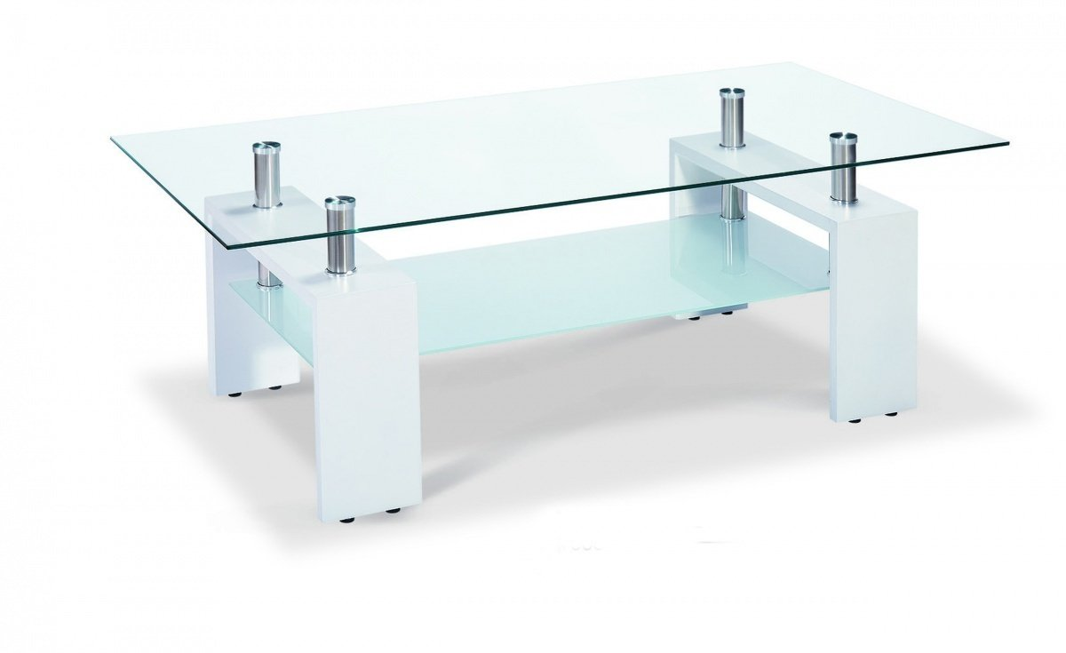 White Glass Coffee Table: 5 Base Types To Consider