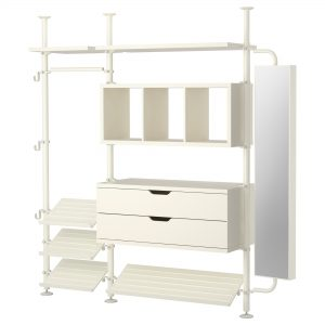 furniture ideas modern white open shelves and drawers storage wardrobe for walk in closet furnishing with modern designs wardrobe contemporary storage solutions 300x300 - 7 Wardrobe Essential Determining Model Quality And Functionality