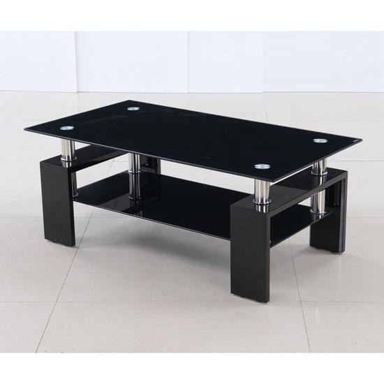 metro coffee table black - 5 Reasons To Buy Black Glass Coffee Table With Black Legs