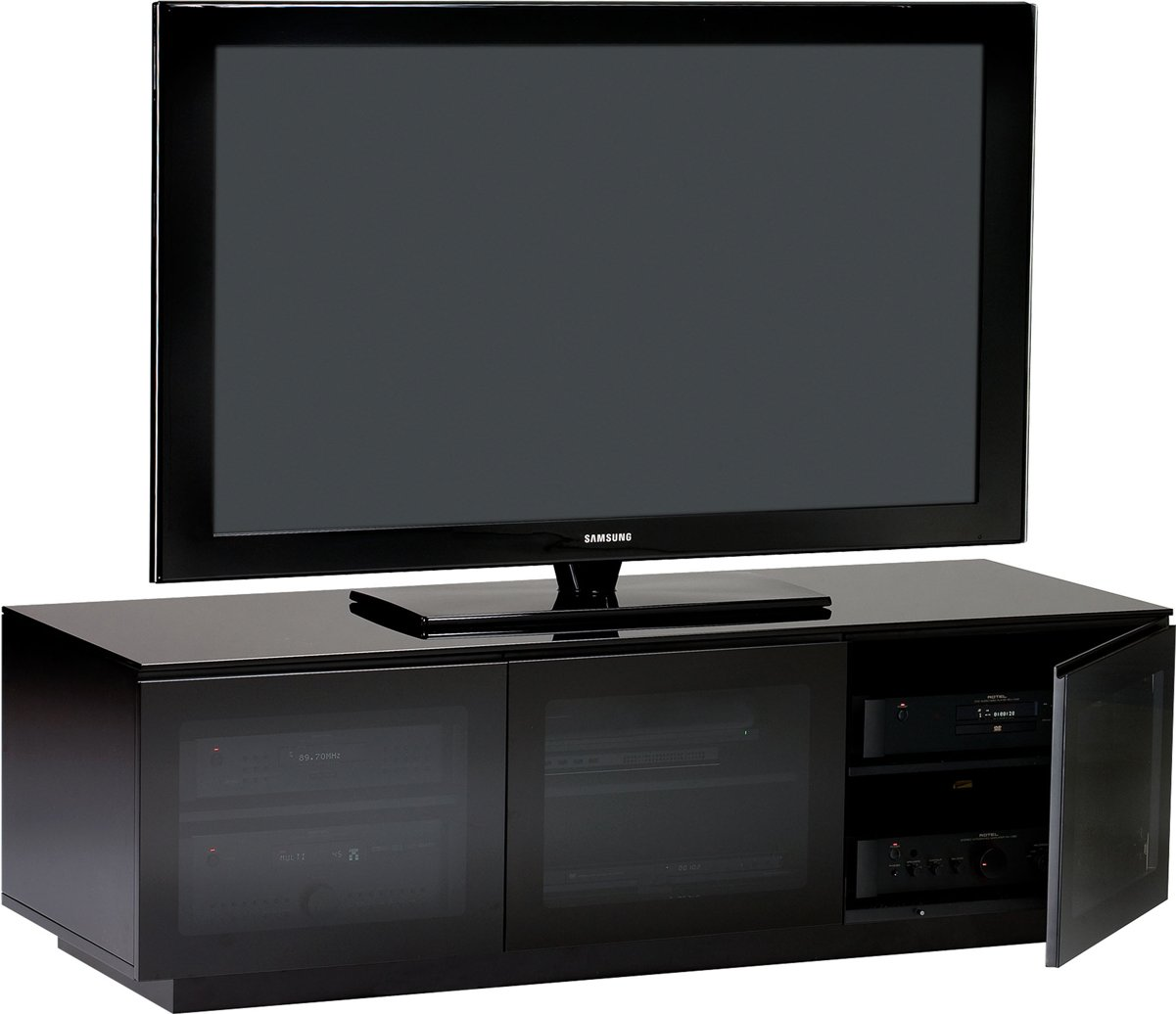 5 Types Of Different Black TV Stands With Glass Doors