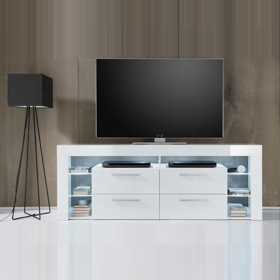 score 1475.860.01 White - Choosing Tall Wooden TV Stands: UK Stores Options For 5 Different Interiors