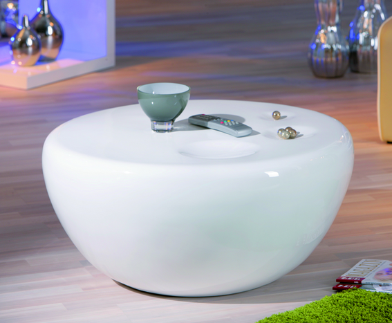 universe - Main Advantages Of Round White Glass Coffee Table