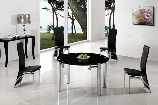 Tips While Shopping For A Round Black Glass Dining Table And Chairs
