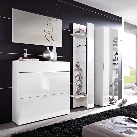Primera white hallway set - 4 Functional Examples Of Shoe Storage Solutions