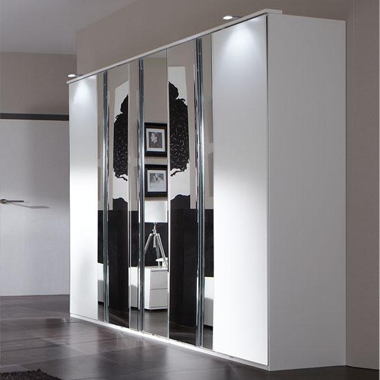 davos 5 door wardrobe alpine white 734566 - Best 4 Door Wardrobe Designs For Bedroom Interior
