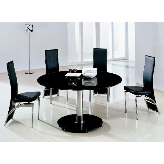 dining room tables maxiBlkg501 - Tips While Shopping For A Round Black Glass Dining Table And Chairs
