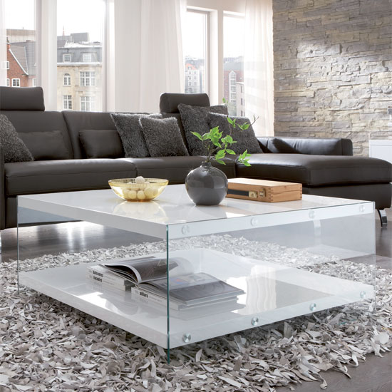 gloss coffee 87390 - How To Decorate A Large Square Coffee Table In 6 Different Interior Types