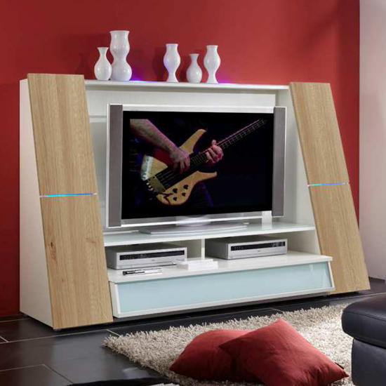 66107 oak - TV Storage Units: Living Room Decoration Ideas That Work