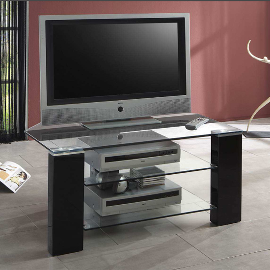 TV BLACK STAND 80110 - Getting Creative With TV Stands Under £100: 7 Decoration Tips To Give The Room A Designer Look