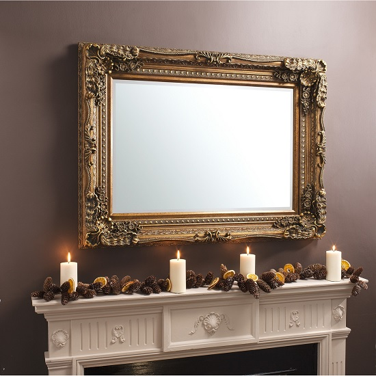 Carved Loius Wall Mirror Gold Gallery2 - 6 Reasons To Love Wall Mirrors In Gold Frame