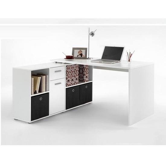 LEX White Corner Computer Desk  - 7 Corner Computer Desks For Bedroom Ideas That Work In Any Room
