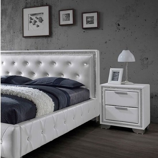 crystal white bedside 1 - 10 Modern Nightstands And Ideas On Making Them Work In A Bedroom