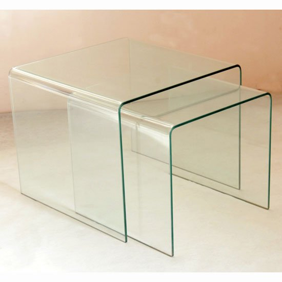 Bent Glass Nest Of 3 Tables That Will Perfectly Blend Into Any Environment