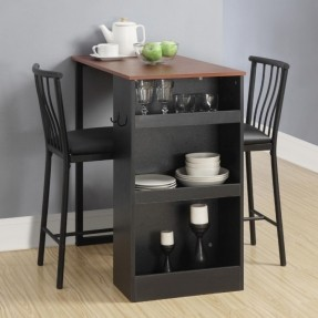 3 pc counter height bar set table chairs home pub cocktail kitchen storage small - Buying Quality Bar Tables for Kitchen