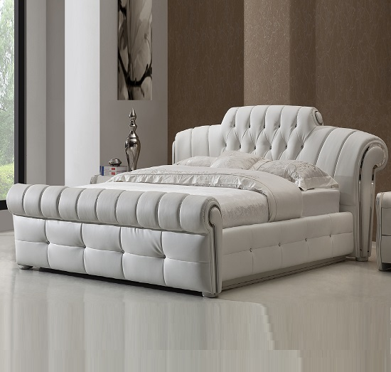 DA 12 black faux leather bed - The Pros and Cons Of Leather Beds For Furnishing A Modern Bedroom
