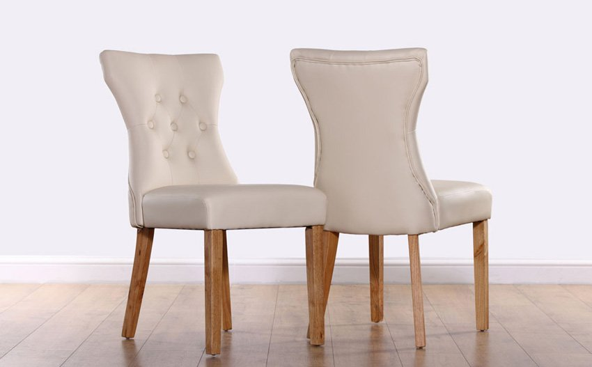 Upholstered Dining Chairs With Oak Legs: Place An Accent With Leather
