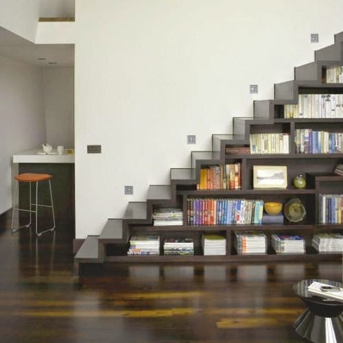 under stairs space reclaim book shelves custom built functional storage modern living room duplex idea design - Reading Nook Ideas For Book Lovers: 4 Classic Suggestions