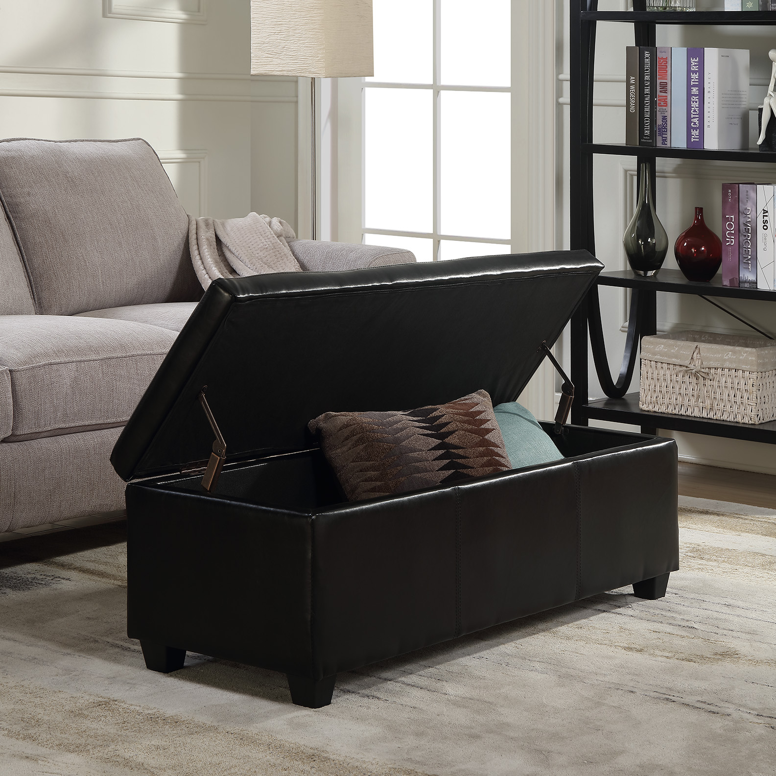 Leather Ottomans With Storage