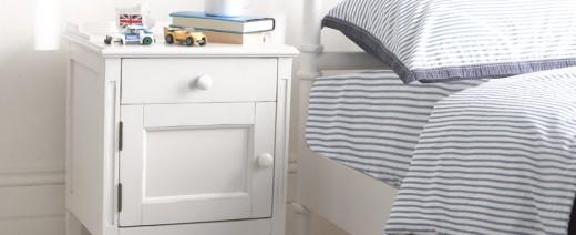 White High Gloss Decor Ideas: Children's Bedside Tables