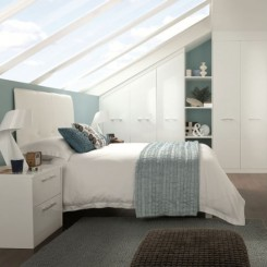 Sharps white bedroom min 245x245 - Loft Bedroom Furniture For An Attic