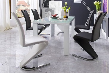 Tizio Glass 120cm Dining Table In White Gloss
