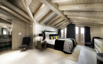 awesome loft bedroom ideas with awesome wooden ceiling and black furry pillow and black velvet chair and black curtain bedroom photo loft bedroom min 392x245 - Loft Bedroom Furniture For An Attic