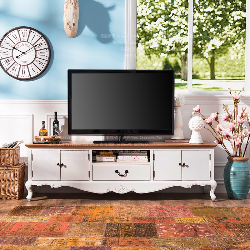 Odd ranks yield US Kang Side elm wood furniture font b French b font country living 1 - Rustic Country TV Stands