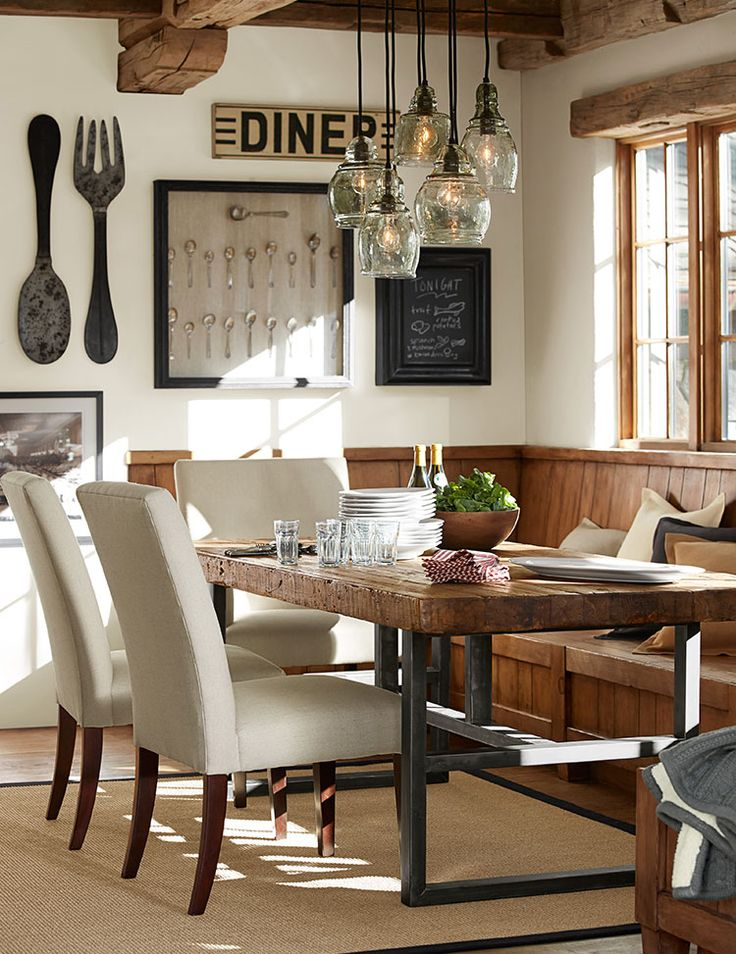 Country Wooden Dining Table In Your Dining Room