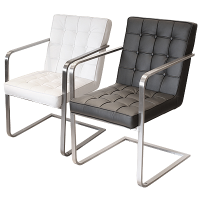 Arm Chair with padded button seats