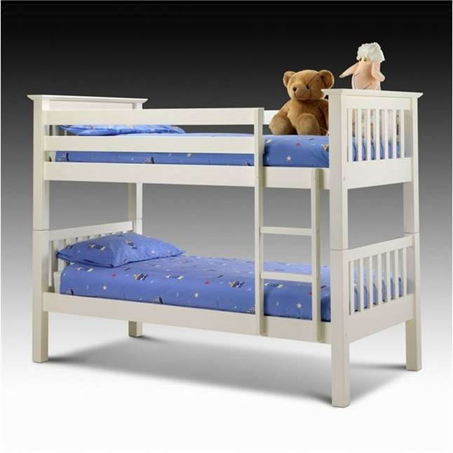 White Wooden Bunk Beds With Storage
