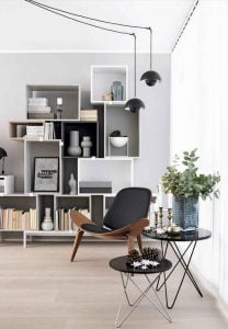 Modern Scandinavian office 208x300 - ENHANCE YOUR LIVING ROOM WTH THESE GREAT SPACE SAVING IDEAS