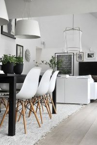 Monochrome Scandinavian dining room 200x300 - ENHANCE YOUR LIVING ROOM WTH THESE GREAT SPACE SAVING IDEAS