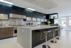 contemporary kitchen 300x201 - Enhance your open space with a bar area