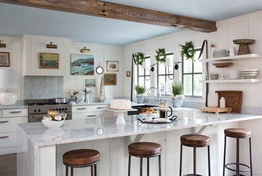 rustic modern kitchen  2 1 - Creating a fusion of classical and modern design styles in your kitchen and other rooms
