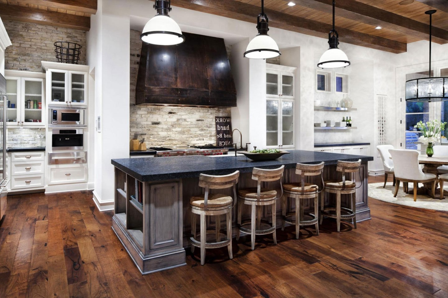 rustic modern kitchen  5 1 - Creating a fusion of classical and modern design styles in your kitchen and other rooms