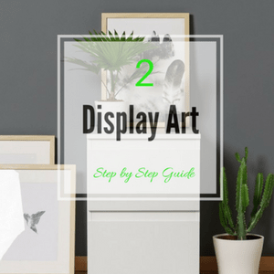 display art with sideboard